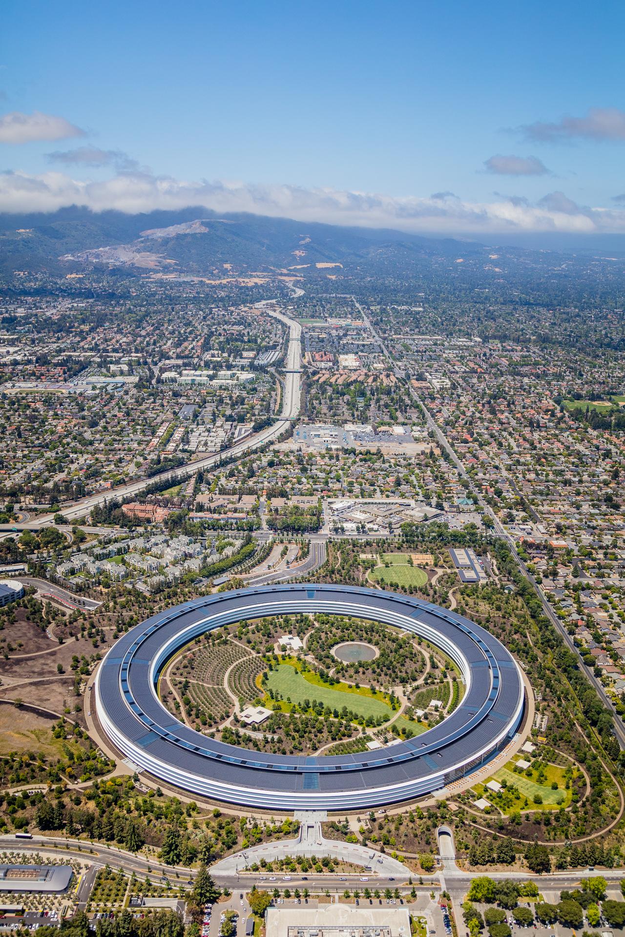 Apple Park Headquarters Aerial 2018 4